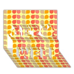 Colorful Leaf Pattern Get Well 3d Greeting Card (7x5)