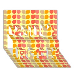 Colorful Leaf Pattern You Rock 3d Greeting Card (7x5)