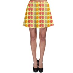 Colorful Leaf Pattern Skater Skirts