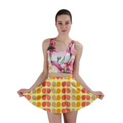 Colorful Leaf Pattern Mini Skirts