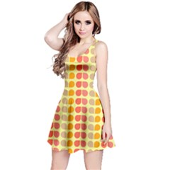 Colorful Leaf Pattern Reversible Sleeveless Dresses