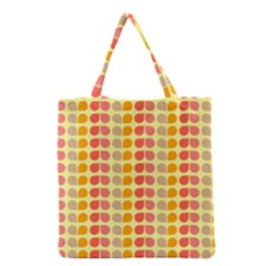 Colorful Leaf Pattern Grocery Tote Bags