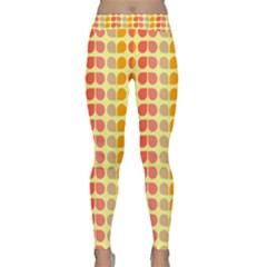 Colorful Leaf Pattern Yoga Leggings