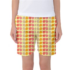 Colorful Leaf Pattern Women s Basketball Shorts