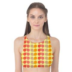 Colorful Leaf Pattern Tank Bikini Top