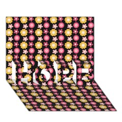 Cute Floral Pattern HOPE 3D Greeting Card (7x5)