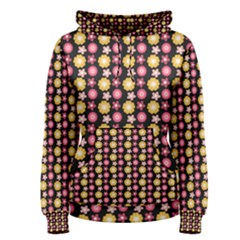 Cute Floral Pattern Women s Pullover Hoodies