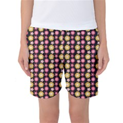 Cute Floral Pattern Women s Basketball Shorts