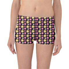 Cute Floral Pattern Boyleg Bikini Bottoms