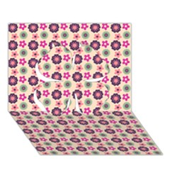 Cute Floral Pattern Clover 3d Greeting Card (7x5)