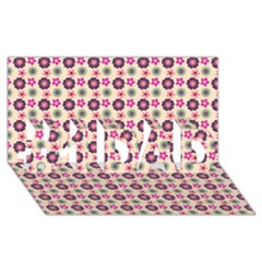 Cute Floral Pattern #1 DAD 3D Greeting Card (8x4)