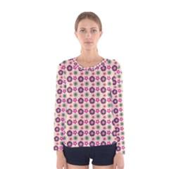 Cute Floral Pattern Women s Long Sleeve T-shirts