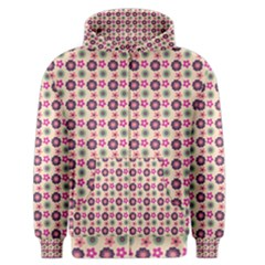 Cute Floral Pattern Men s Zipper Hoodies