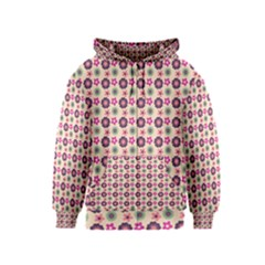 Cute Floral Pattern Kids Zipper Hoodies