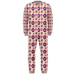 Cute Floral Pattern OnePiece Jumpsuit (Men)