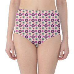Cute Floral Pattern High-Waist Bikini Bottoms