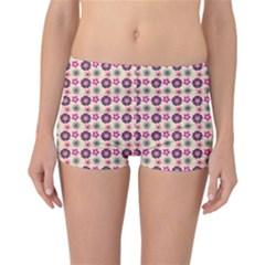 Cute Floral Pattern Reversible Boyleg Bikini Bottoms