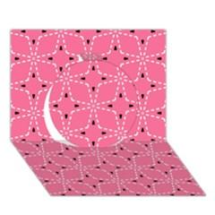 Cute Pretty Elegant Pattern Circle 3d Greeting Card (7x5)