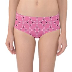 Cute Pretty Elegant Pattern Mid Waist Bikini Bottoms