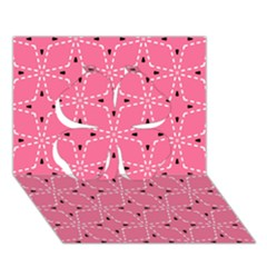 Cute Pretty Elegant Pattern Clover 3d Greeting Card (7x5)