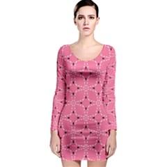Cute Pretty Elegant Pattern Long Sleeve Bodycon Dresses