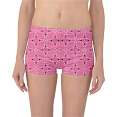 Cute Pretty Elegant Pattern Reversible Boyleg Bikini Bottoms
