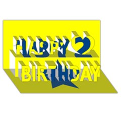 1972 Happy Birthday 3D Greeting Card (8x4)