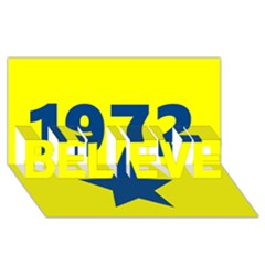 1972 BELIEVE 3D Greeting Card (8x4)