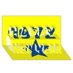 1972 Happy New Year 3d Greeting Card (8x4)