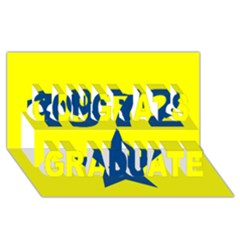 1972 Congrats Graduate 3D Greeting Card (8x4)