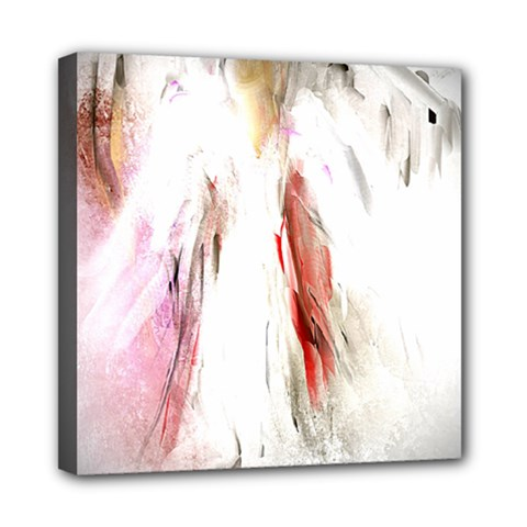 Abstract Angel in White Mini Canvas 8  x 8