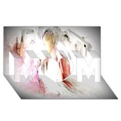 Abstract Angel in White MOM 3D Greeting Card (8x4)