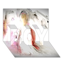 Abstract Angel in White BOY 3D Greeting Card (7x5)