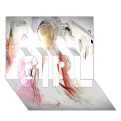 Abstract Angel In White Girl 3d Greeting Card (7x5)