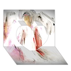 Abstract Angel in White Heart 3D Greeting Card (7x5)