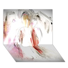 Abstract Angel In White Apple 3d Greeting Card (7x5)