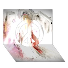 Abstract Angel In White Peace Sign 3d Greeting Card (7x5)