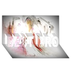 Abstract Angel in White BEST BRO 3D Greeting Card (8x4)