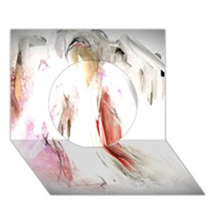 Abstract Angel In White Circle 3d Greeting Card (7x5)