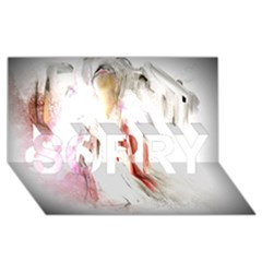 Abstract Angel In White Sorry 3d Greeting Card (8x4)