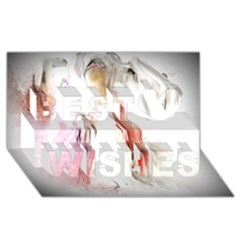Abstract Angel in White Best Wish 3D Greeting Card (8x4)