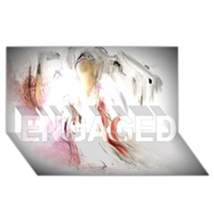 Abstract Angel in White ENGAGED 3D Greeting Card (8x4)