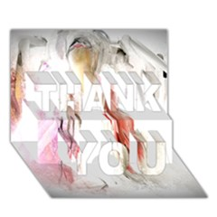 Abstract Angel in White THANK YOU 3D Greeting Card (7x5)