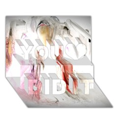 Abstract Angel in White You Did It 3D Greeting Card (7x5)
