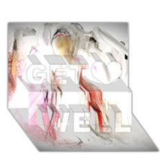 Abstract Angel In White Get Well 3d Greeting Card (7x5)