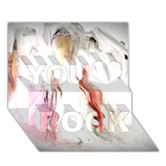 Abstract Angel in White You Rock 3D Greeting Card (7x5)
