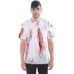 Abstract Angel in White Men s Sport Mesh Tees