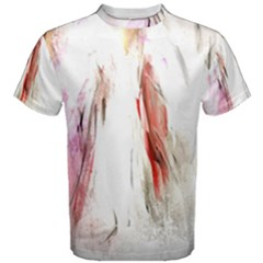 Abstract Angel in White Men s Cotton Tees