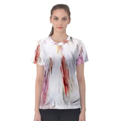 Abstract Angel in White Women s Sport Mesh Tees