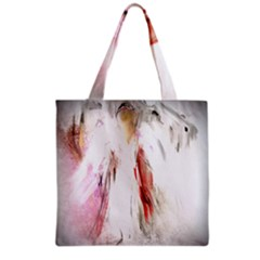 Abstract Angel in White Grocery Tote Bags